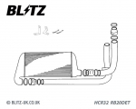 BLITZ Intercooler CS Kit (mit Piping) - NISSAN Skyline R32 RB20DET - 13106